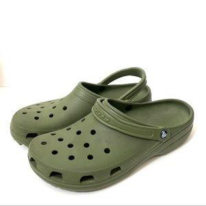 Crocs Classic Closed Toe Men's Army Green size 12